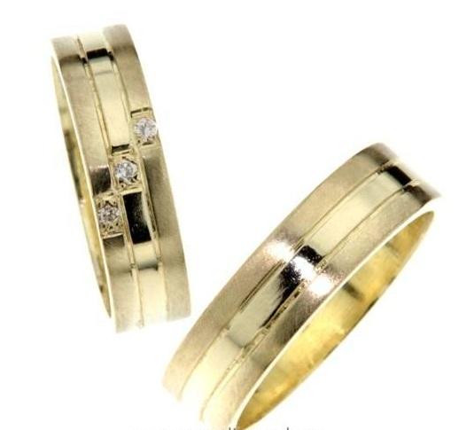 Zlaté snubní prsteny Magic ze žlutého zlata