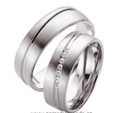Zlatý snubní prsten GEMS EXCELENT, 204-205 z bílého zlata