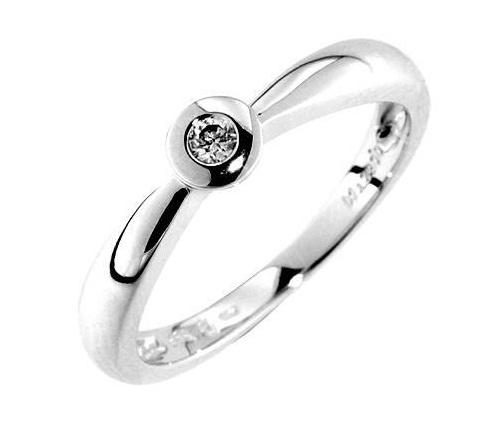 Zásnubní Prsten s diamantem, bílé zlato 386-0683, Gems Adriana z bílého zlata