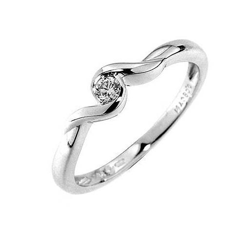 Zásnubní Prsten s diamantem, bílé zlato 386-0036 Gems Kornélie