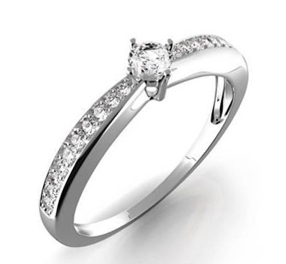 Zasnubni Prsten S Diamantem Karin Bile Zlato 386 0440 Gems Elegant