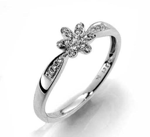 Zásnubní GEMS elegantní prsten s diamanty Myron, bílé zlato 386-1216