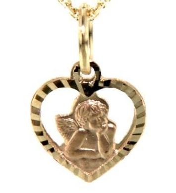 Zlatý přívěsek anděl, 232-0121