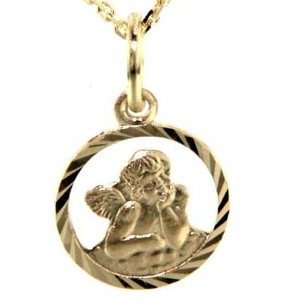 Zlatý přívěsek anděl, 232-0092 P377