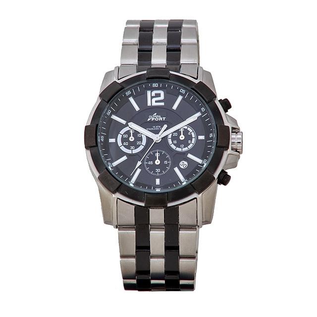 Sportovní značkové nerezové ocelové pánské Olympia hodinky 70095 - CHRONOGRAF