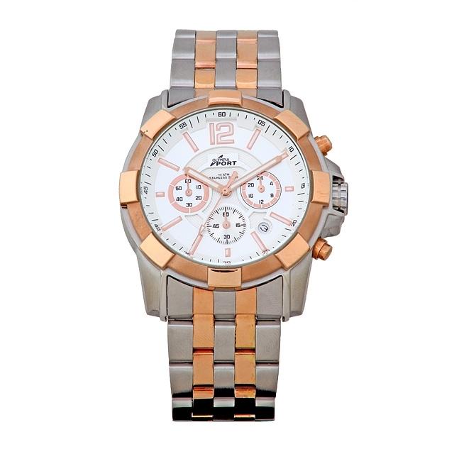 Sportovní značkové nerezové ocelové pánské Olympia hodinky 70096 - CHRONOGRAF