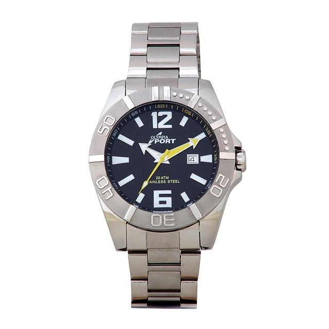Sportovní pánské módní nerezové kovové hodinky Olympia 70098