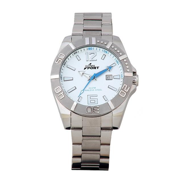 Sportovní pánské módní nerezové kovové hodinky Olympia 70097
