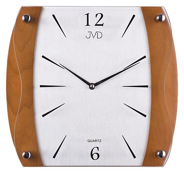 Dřevěné skleněné Nástěnné hodiny JVD N11027.41