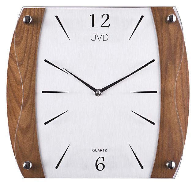 Dřevěné skleněné Nástěnné hodiny JVD N11027.11
