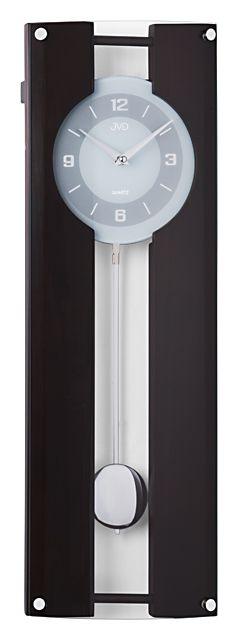 Dřevěné kyvadlové kovové nástěnné hodiny JVD quartz N12010.23