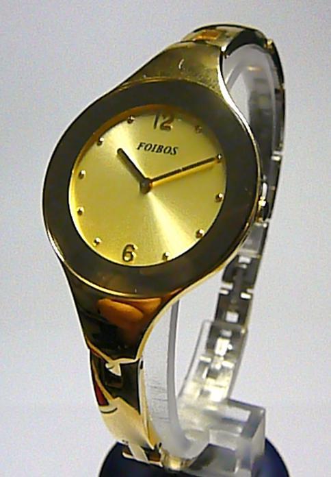 Luxusní designové zlaté vodotěsné moderní dámské hodinky zn. Foibos 8319.1