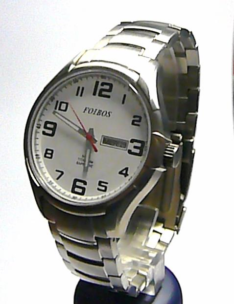 Titanové luxusní pánské ocelové společenské hodinky Foibos 90713.1 safír sklo