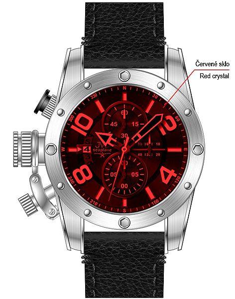 Pánské sportovní hodinky JVD seaplane JS23.2 do ponorky! 7ba95d5f9d