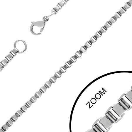 Moderní luxusní řetízek z chirurgické oceli 215128 - unisex