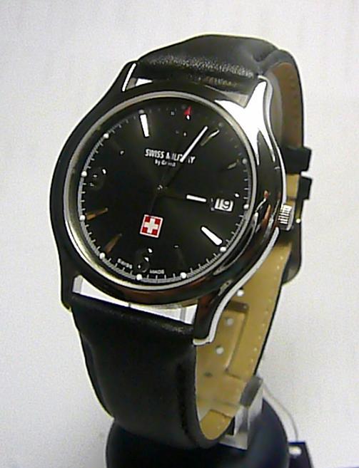 Luxusní švýcarské ocelové značkové hodinky GROVANA SWISS MILITARY 1207.1137SAM