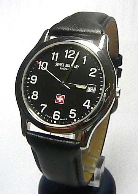 Luxusní švýcarské ocelové značkové hodinky GROVANA SWISS MILITARY 1207.1937SM
