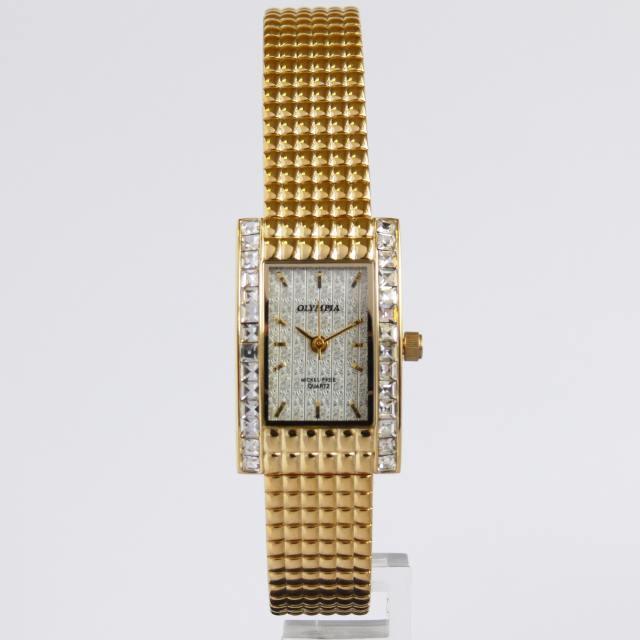 Dámské ocelové zlacené moderní hodinky Olympia 32019