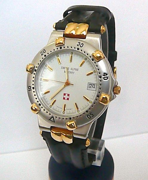 Sportovní švýcarské luxusní hodinky Grovana Swiss Alpine Military na kůži 1505.1