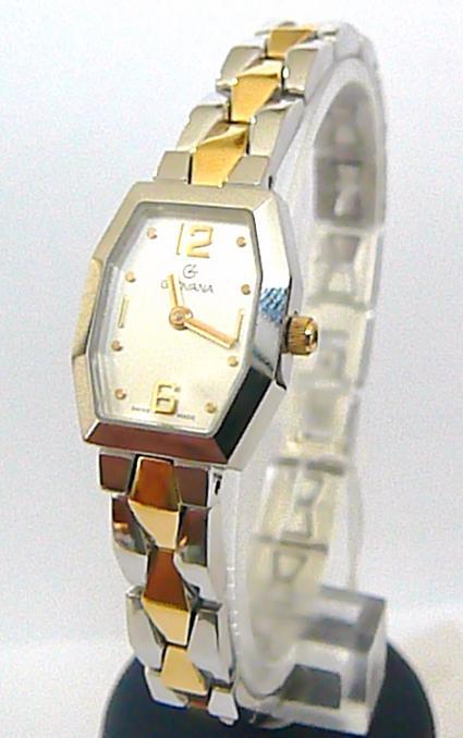 Švýcarské luxusní dámské hodinky Grovana 4013.1 se safírovým sklem - bicolor