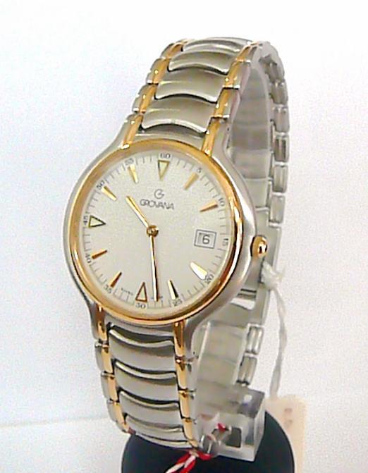 Luxusní ocelové švýcarské značkové hodinky Grovana 1513.1 - bicolor