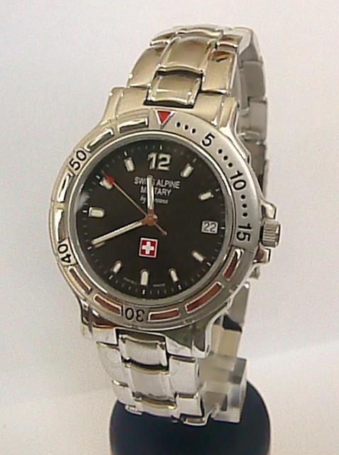 Luxusní švýcarské značkové vodotěsné hodinky Grovana Swiss Alpine Military 2065.
