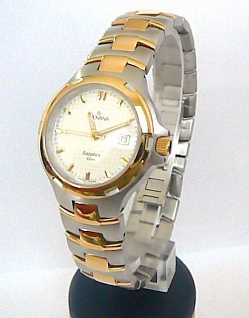 Značkový ocelové bicolor švýcarské hodinky Grovana se safírovým sklem 5077.1