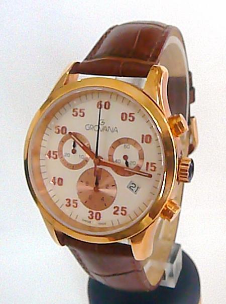 Společenský luxusní švýcarský chronograf - hodinky Grovana 1203.9
