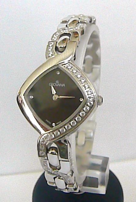 Dámské švýcarské luxusní hodinky Grovana 4015.1 se safírovým sklem a zirkony