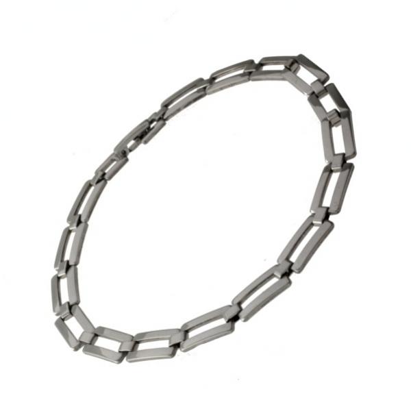 Lesklý ocelový náramek z chirurgické oceli 316L 356 - 311356