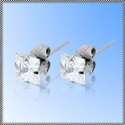 Ocelové náušnice z chirurgické oceli 316 L 241-3 - 214241