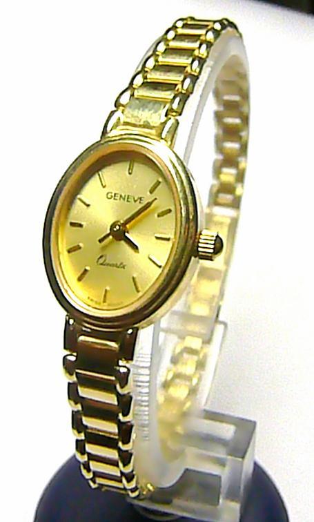 1235bbf07bd Luxusní společenské dámské švýcarské zlaté hodinky GENEVE 585 19 ...