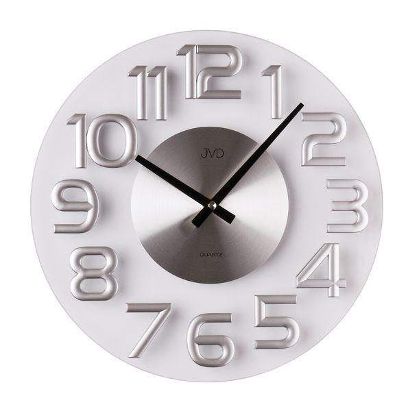 Luxusní kovové nástěnné designové hodiny JVD HT098