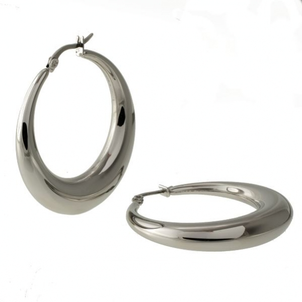 Mohutné ocelové kruhy pr. 3,7cm náušnice z chirurgické oceli 316 L - 314402