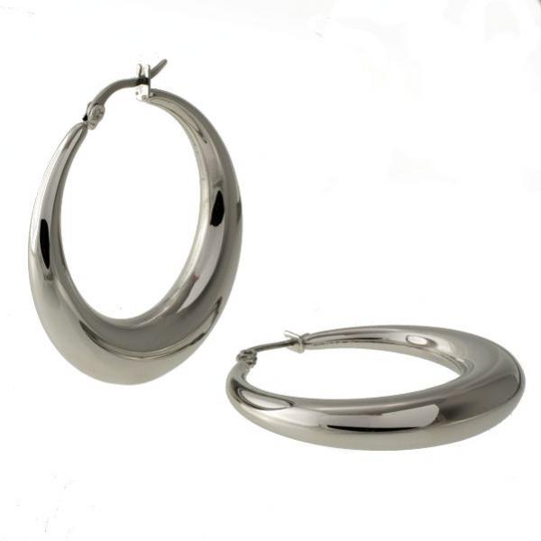 Mohutné ocelové kruhy pr. 4,7cm náušnice z chirurgické oceli 316 L - 314403
