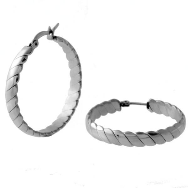 Dámské ocelové kruhy pr. 2,4cm náušnice z chirurgické oceli 316 L -314410