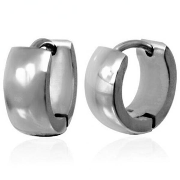 Ocelové kruhy náušnice z chirurgické oceli 316 L - 314473
