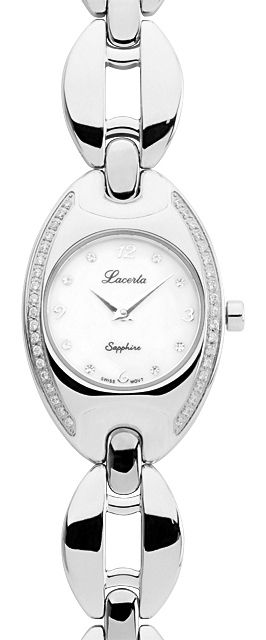 Stříbrné dámské náramkové hodinky LACERTA 751K8595