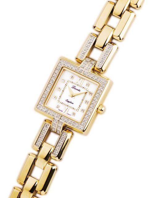 Zlaté dámské náramkové hodinky LACERTA 751M7590