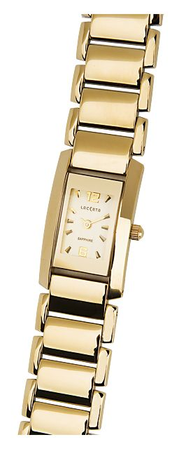 Zlaté dámské náramkové hodinky LACERTA 762H7586