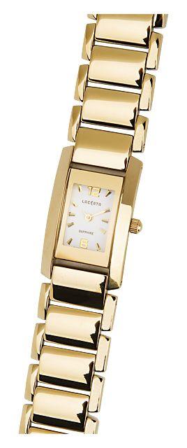Zlaté dámské náramkové hodinky LACERTA 762H7587