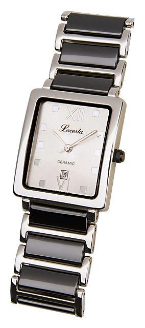 Dámské nerezové keramické hodinky LACERTA 775484K2