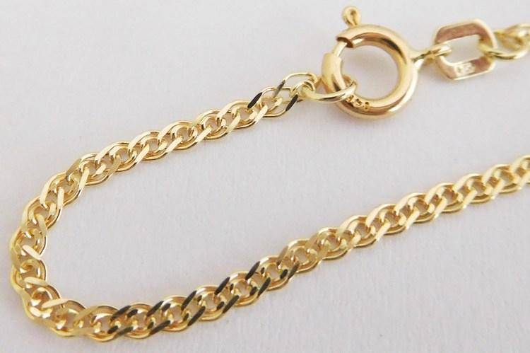 Pánský zlatý dlouhý prodloužený masivní řetěz 585/2,54gr v délce 61cm H927