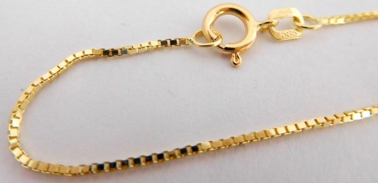 Dámský pevný přívěskový zlatý řetízek - benátský 585/2,32gr 50cm 3640140