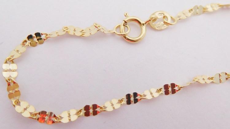 Dámský gravírovaný zdobený zlatý řetízek 585/1,03gr 50cm H252