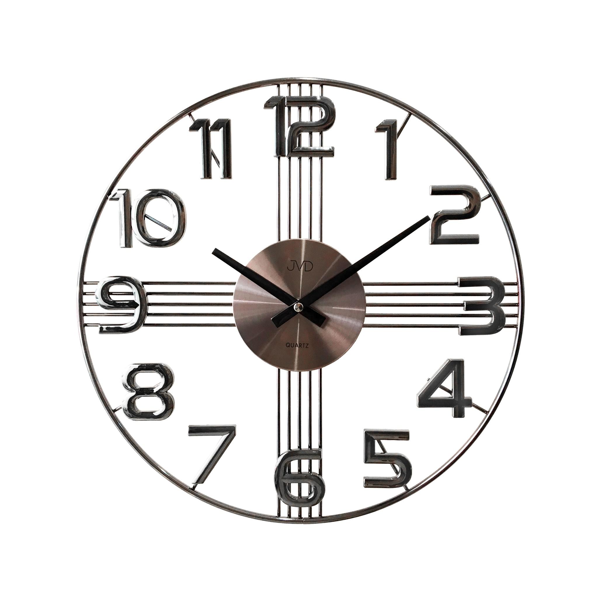 Designové kovové luxusní nástěnné hodiny JVD HT051.4 do moderního bytu - II. jakost (POŠTOVNÉ ZDARMA!!)