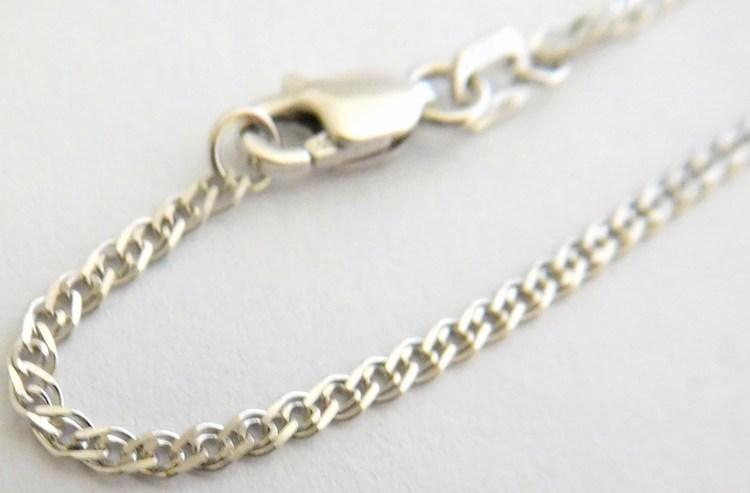 Mohutný zlatý řetízek (řetěz) z bílého zlata šíře 2,0mm ROMBO 585/2,72gr 50cm 3690057