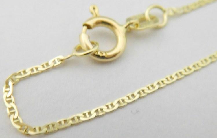 Přívěskový pevný zlatý řetízek ze žlutého zlata PANCER+MUSTEK 585/1,37gr 50cm 3640109