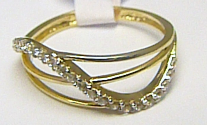 Dámský zlatý velký prsten posetý zirkony 21 ks 585/1,62 gr vel. 52 H290 POŠTOVNÉ ZDARMA!