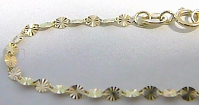 39526239c Zlatý gravírovaný dámský silný náramek ze žlutého zlata 585/0,67gr 18cm H292